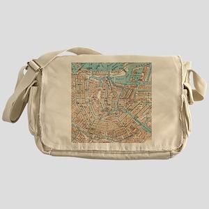 Vintage Map of Amsterdam (1905) Messenger Bag