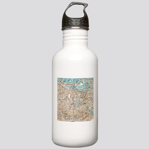 Vintage Map of Amsterdam (1905) Water Bottle