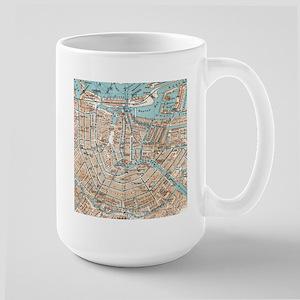 Vintage Map of Amsterdam (1905) Mugs