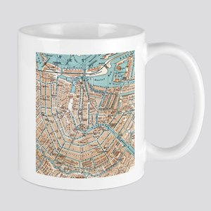 Vintage Map of Amsterdam (1905) Mugs