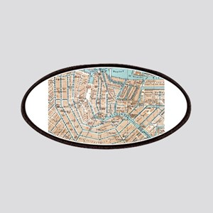 Vintage Map of Amsterdam (1905) Patches