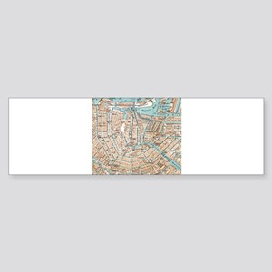 Vintage Map of Amsterdam (1905) Bumper Sticker