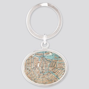 Vintage Map of Amsterdam (1905) Keychains