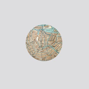 Vintage Map of Amsterdam (1905) Mini Button