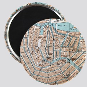 Vintage Map of Amsterdam (1905) Magnets