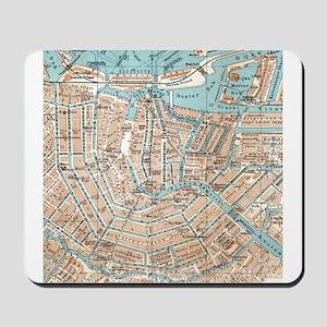 Vintage Map of Amsterdam (1905) Mousepad