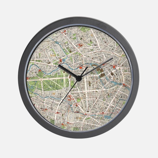 Vintage Map of Berlin Germany (1905) Wall Clock