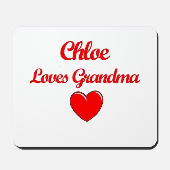 Chloe Loves Grandma Mousepad