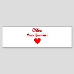 Chloe Loves Grandma Bumper Sticker