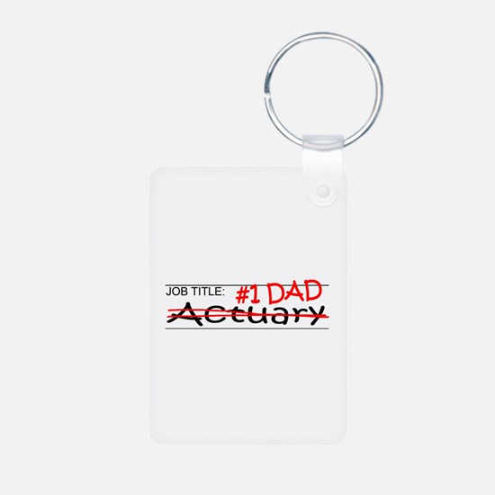 Job Dad Actuary Keychains