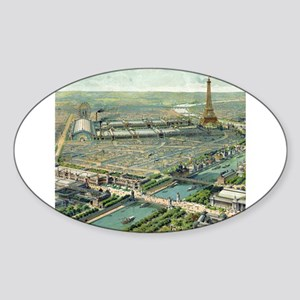 Vintage Pictorial Map of Paris (1900) Sticker