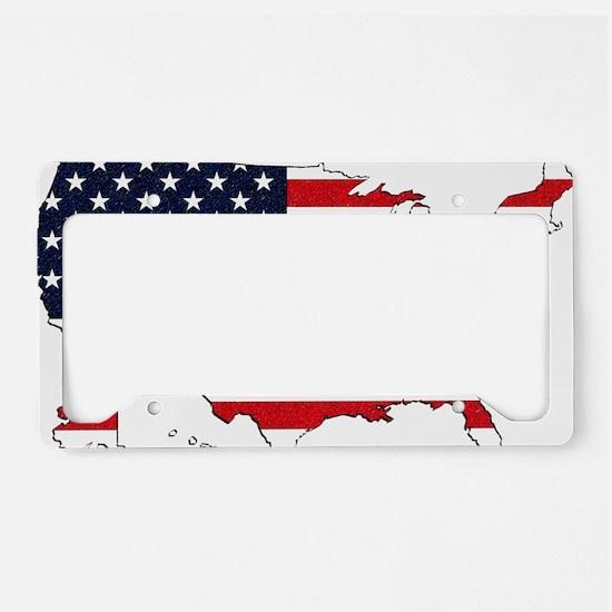 USA Map License Plate Holder