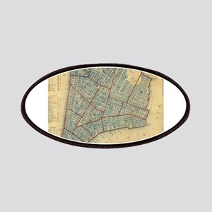 Vintage Map of New York City (1846) Patches