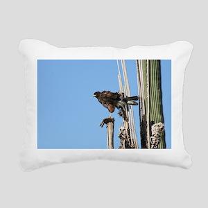 Harris Hawk Ruffling Feathers Rectangular Canvas P