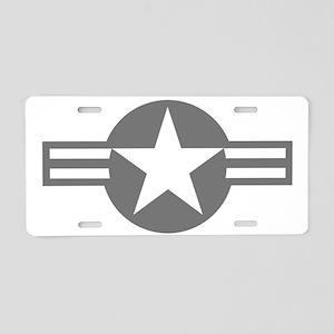 US Mil Aircraft Flash Aluminum License Plate