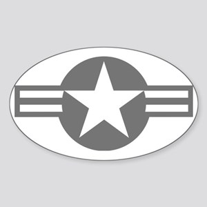 US Mil Aircraft Flash Sticker (Oval)