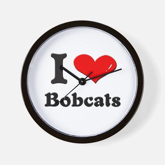 I love bobcats  Wall Clock