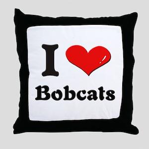I love bobcats  Throw Pillow