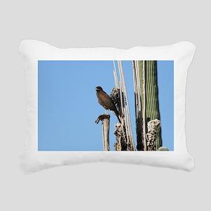 Harris Hawk in Arizona Rectangular Canvas Pillow