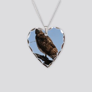 Red-tailed Hawk on tree Necklace