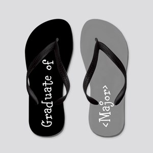 Grad Major Personalized Flip Flops