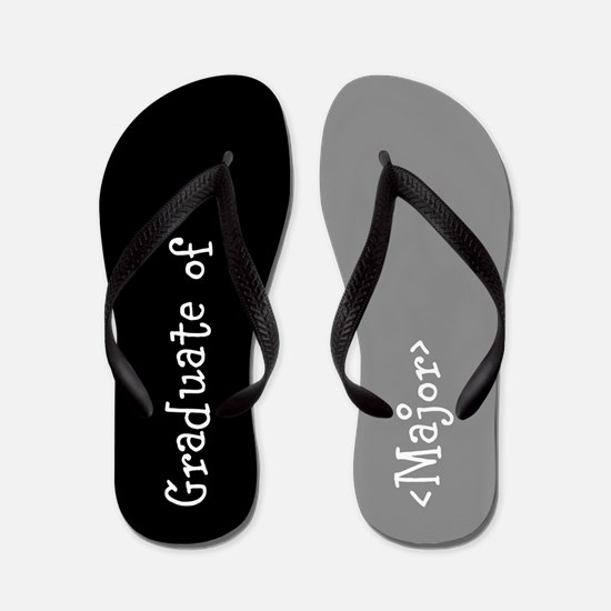Grad Major Personalized Flip Flops