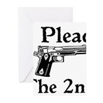Plead the 2nd Greeting Cards