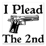 Plead the 2nd Square Car Magnet 3