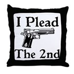 Plead the 2nd Throw Pillow
