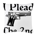Plead the 2nd Woven Throw Pillow