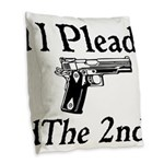 Plead the 2nd Burlap Throw Pillow