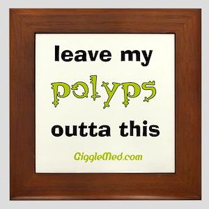Leave Out Polyps Framed Tile