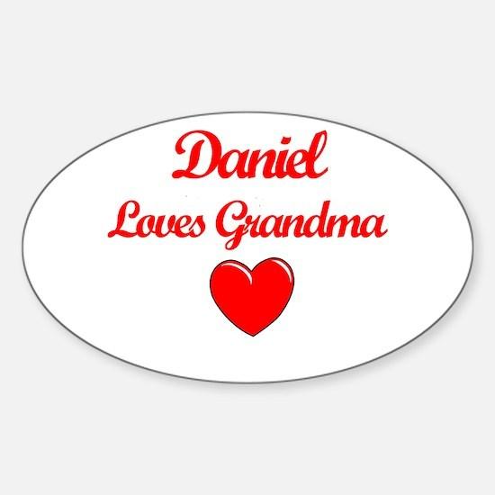 Daniel Loves Grandma Oval Decal