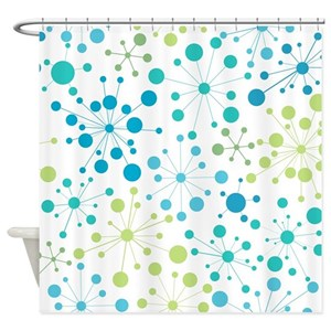 Turquoise And Lime Green Shower Curtains