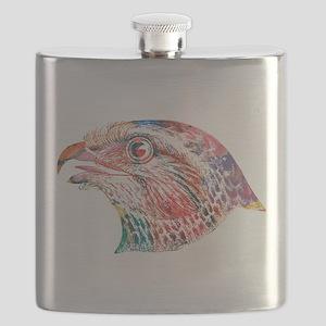 Colorful Eagle Head Flask