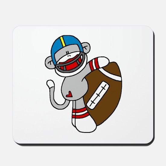Sock Monkey Football Mousepad