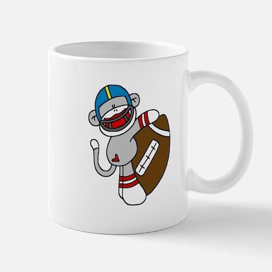 Sock Monkey Football Mug
