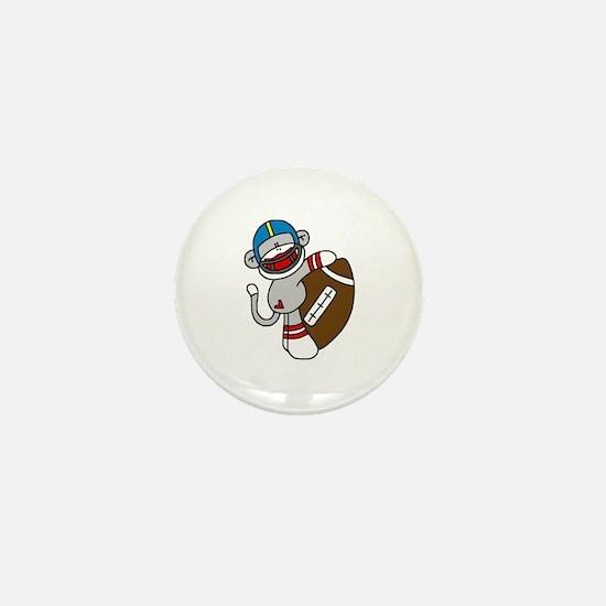 Sock Monkey Football Mini Button