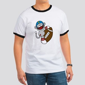 Sock Monkey Football Ringer T