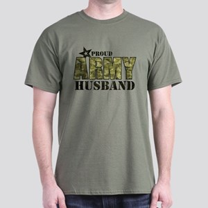Camo Proud Army Husband Dark T-Shirt