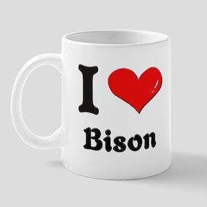 I love bison  Mug
