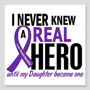 """Cystic Fibrosis Real Her Square Car Magnet 3"""" x 3"""""""
