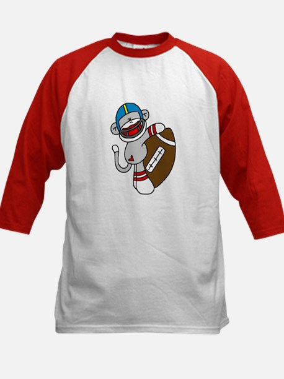 Sock Monkey Football Kids Baseball Jersey
