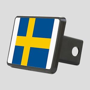 Flag of Sweden Rectangular Hitch Cover
