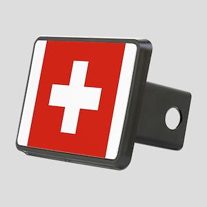 Flag of Switzerland Rectangular Hitch Cover
