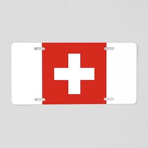 Flag of Switzerland Aluminum License Plate