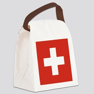 Flag of Switzerland Canvas Lunch Bag