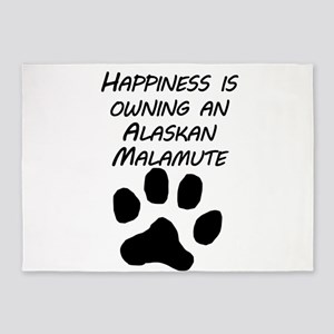 Happiness Is Owning An Alaskan Malamute 5'x7'Area