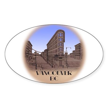 Vancouver Gastown Souvenir Sticker (Oval)