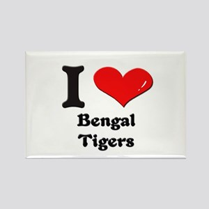 I love bengal tigers Rectangle Magnet